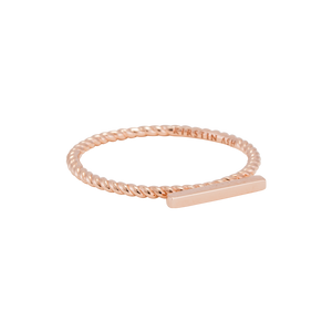 Rose Gold Plated Bar Ring