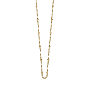 18ct Gold Vermeil Plated Bespoke Ball Chain