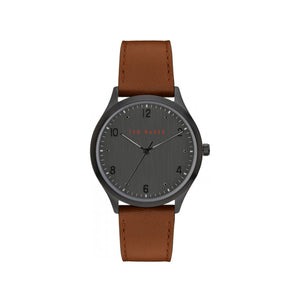 Manhatt Silver Black Brown Leather Watch