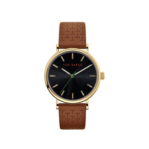 Mimosaa Gold Tan Leather Watch