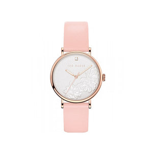 Phylipa Flowers Peach Leather Watch