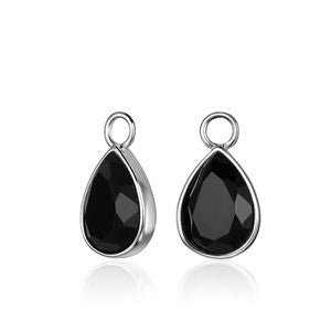 Black Teardrop Earring Attachments