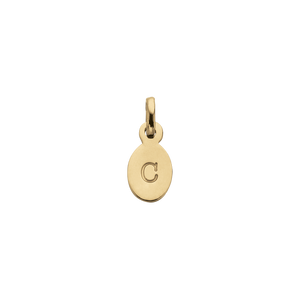 18ct Gold Plated Vermeil C Oval Letter Charm
