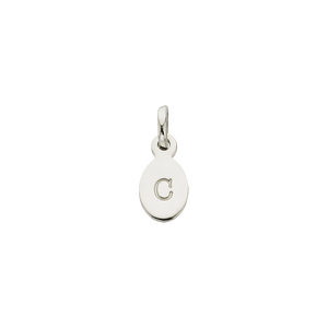 Silver C Oval Letter Charm