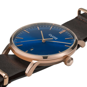 Aravis RG Dark Blue Dark Brown Nato Watch