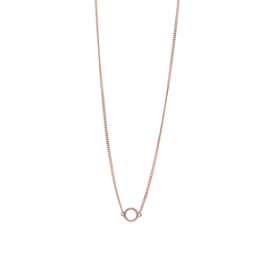 9ct Rose Gold Circle Pendant