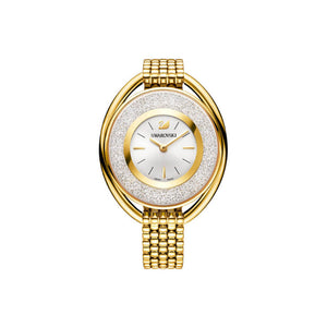 Crystalline Oval Gold-tone Watch