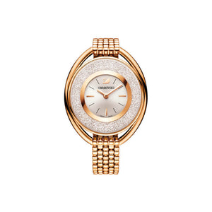 Crystalline Oval Rose Gold Watch