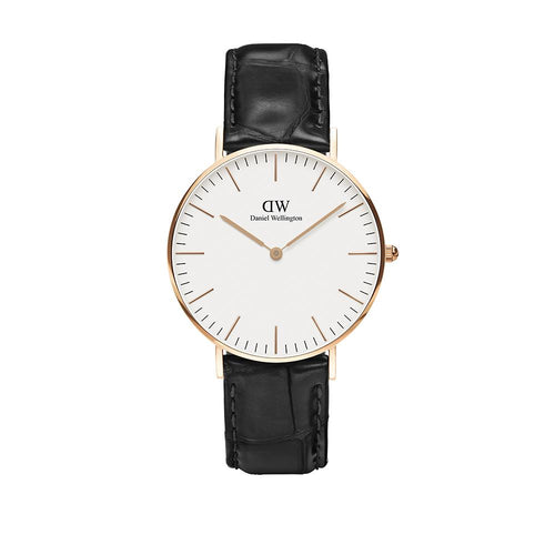 Classic 36mm Reading Rose Gold White Watch