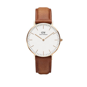 Classic 36mm Durham Rose Gold White Watch