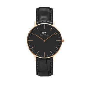 Classic 36mm Reading Rose Gold Black Watch