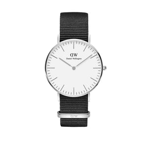 Classic 36mm Cornwall Silver White Watch