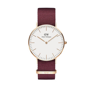 Classic 36mm Roselyn Rose Gold White Watch