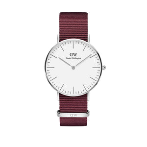 Classic 36mm Roselyn Silver White Watch
