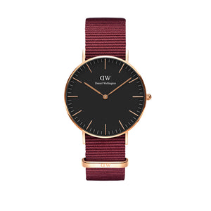 Classic 36mm Roselyn Rose Gold Black Watch