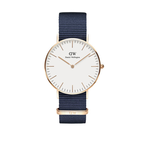 Classic 36mm Bayswater Rose Gold White Watch