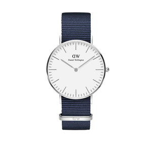 Classic 36mm Bayswater Silver White Watch