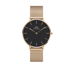 Classic 36mm Melrose Rose Gold Black Watch