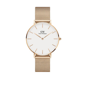 Petite 36mm Melrose Rose Gold White Watch