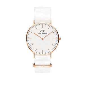 Classic 36mm Dover Rose Gold White Watch