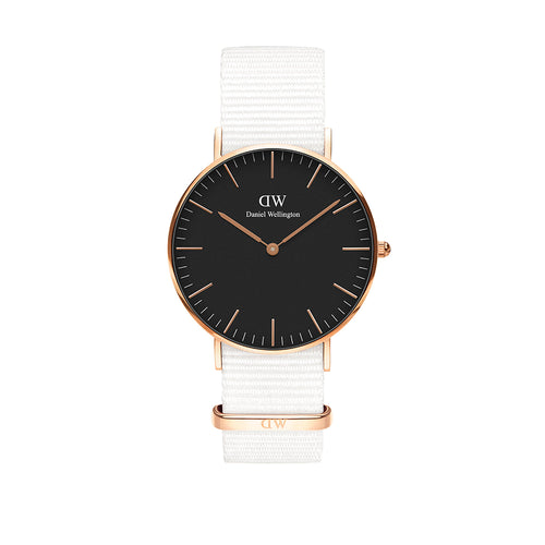 Classic 36mm Dover Rose Gold Black Watch