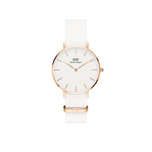 Petite 32mm Dover Rose Gold White Watch
