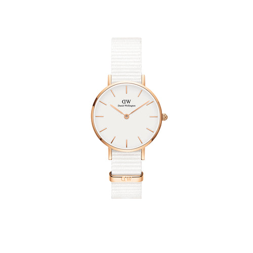 Petite 28mm Dover Rose Gold White Watch