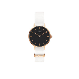 Petite 28mm Dover Rose Gold Black Watch