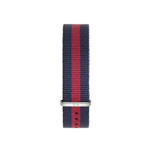 Nato Strap Oxford Silver Watch 18mm Strap