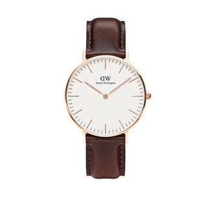 Classic 36mm Bristol Rose Gold White Watch