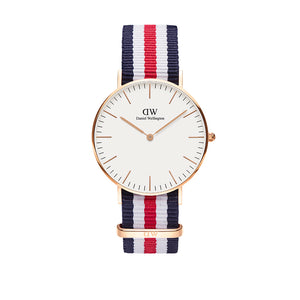 Classic 36mm Canterbury Rose Gold White Watch