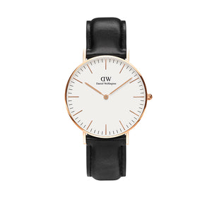 Classic 36mm Sheffield Rose Gold White Watch