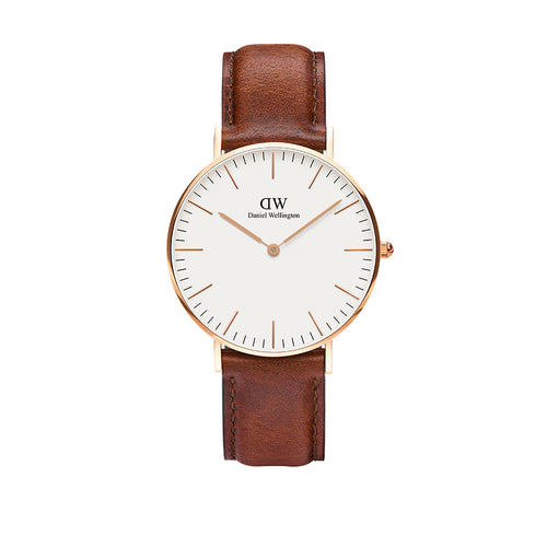 Classic 36mm St Mawes Rose Gold White Watch