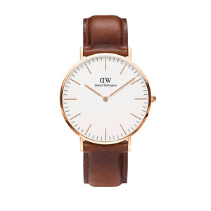 Classic 40mm St Mawes Rose Gold White Watch