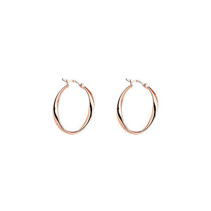 Cinta Hoop Earring - Rose Gold Plated