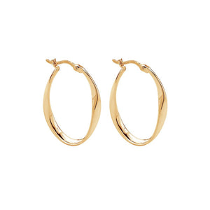 Cinta Hoop Earring - Yellow Gold Plated