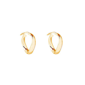 Eddy Hoop - Yellow Gold Plated