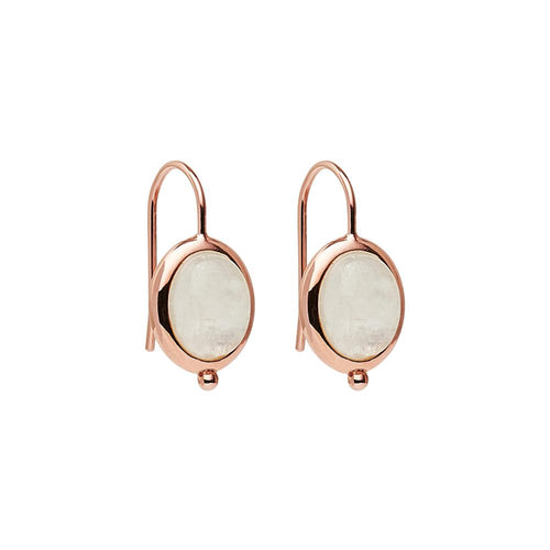 Justinia Earring -Rose Gold Plated Moonstone