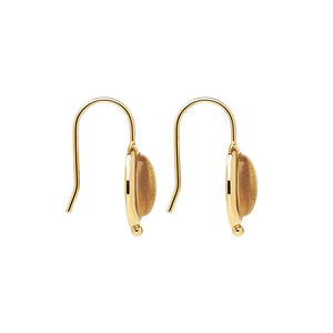 Justinia Earring - Yellow Gold Plated Citrine