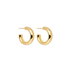 Mama Stud Hoop Earring - Yellow Gold Plated