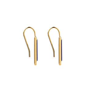 Gold Plated Josephine Earring - Lapis
