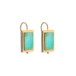 Gold Plated Josephine Earring - Amazonite