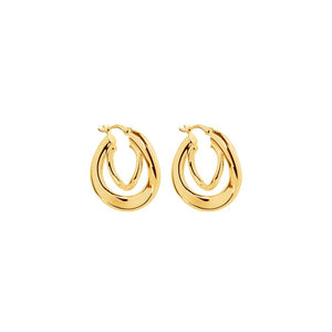 Baby Strudel Hoop Earrings - Gold Plated
