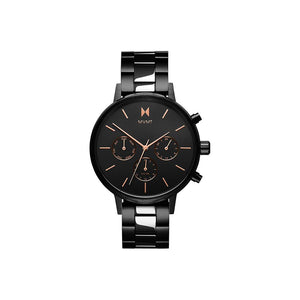 Nova Black Steel Multi-function Watch