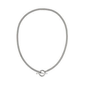 Silver Fob Choker Necklace
