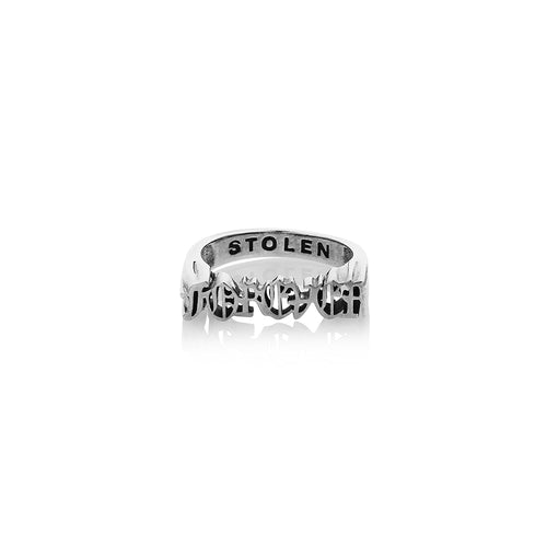 Silver Gothic Seal Ring - Forever