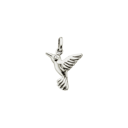 Silver Small Humming Bird Charm