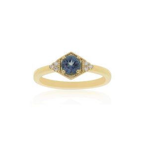 18ct Yellow Gold Riley Montana Sapphire Diamond Ring