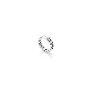 Silver Curb Ring Slim