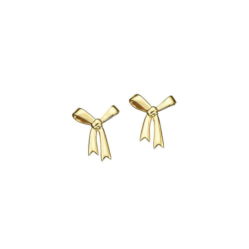 9ct Gold Bow Studs